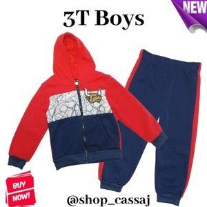 👦 3T Boys Hoodie & Joggers Set